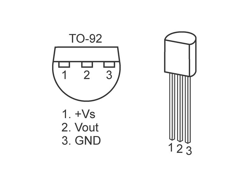 lm35 temperature sensor  original