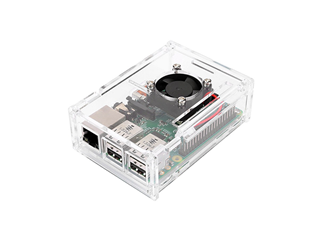 Raspberry Pi Acrylic Case with Cooling Fan
