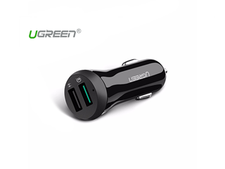UGREEN Quick Charge 3.0 Dual USB Ports 30W Car Charger