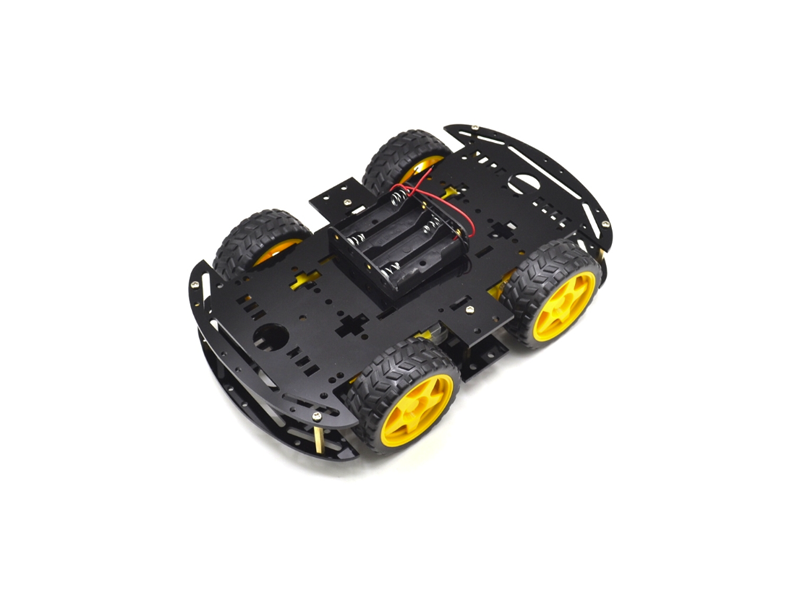 4WD Smart Robot Car Chassis Black - Image 1